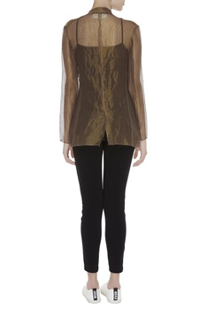Sheer kota silk shimmer zari jacket