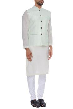 Stripped nehru jacket