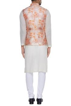 Rose print nehru jacket
