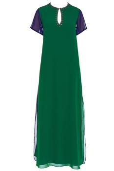Stone embellished maxi dress