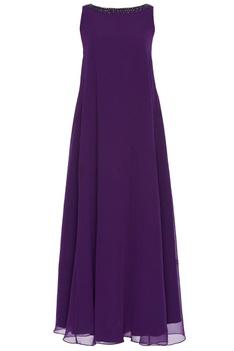 Embellished sleeveless gown