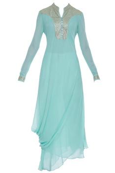 Drape style kurta with sequin embellishment