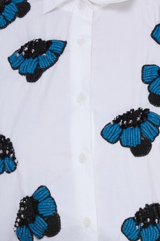 Oversized bead embroidered shirt