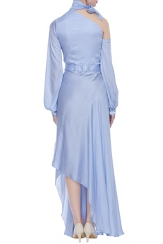 High low gown with tie-up
