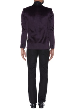 Velvet formal jacket with embroidery