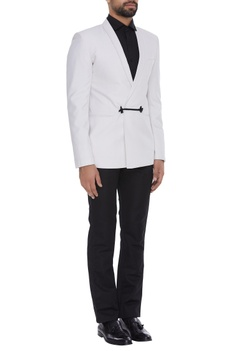 Formal dinner jacket with utility pockets