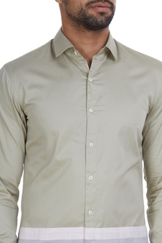 Dual color panel style shirt