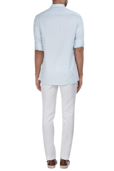 Color block button down shirt