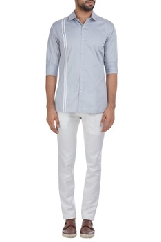 Button down shirt with piping detail