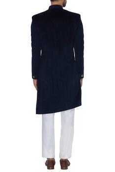 Textured cupro sherwani with straight pants