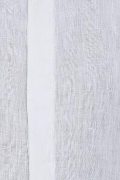 Organic linen shirt with patchwork detailing