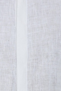Organic linen shirt with piping detailing