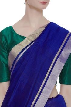 Pure chanderi sari & unstitched bloise