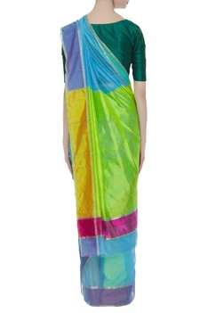 Pure chanderi sari with unstitched blouse
