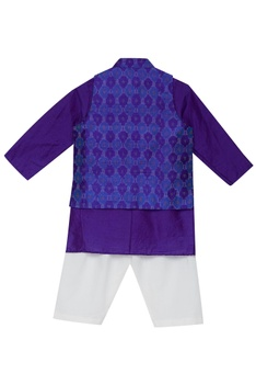 Printed jacket and kurta set