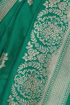 Rose mulberry silk sari & unstitched blouse