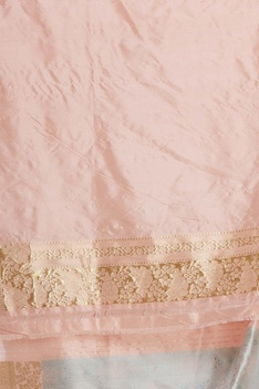 Banarasi woven mulberry silk with unstitched blouse