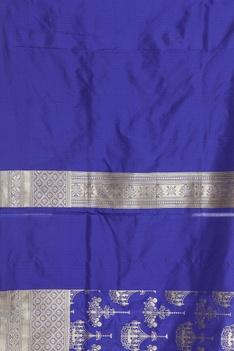 Chandelier motif banarasi sari with unstitched blouse
