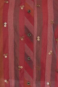 Three quarter sleeve striped shirt