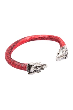 Elephant motif cuff bangle