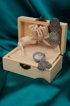 Coin drop earrings