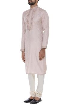 Pure silk kurta with churidar.