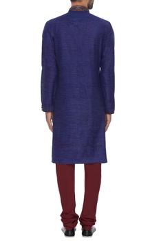 Pure silk embroidered kurta with churidar
