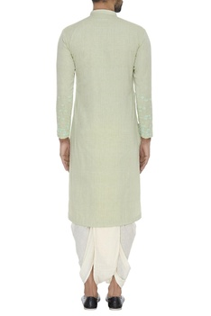 Embroidered cotton kurta