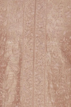Paisley embroidered silk kurta