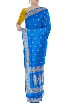 Banarasi handwoven sari with unstitched blouse