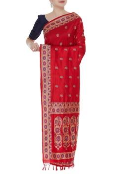 Banarasi Handwoven sari with unstitched blouse