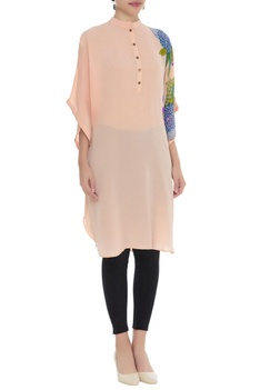 Embroidered straight tunic