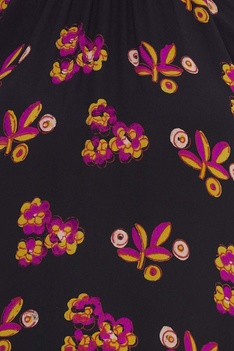 Printed flared maxi dress