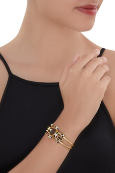 Gold plated 3D cut Cuff
