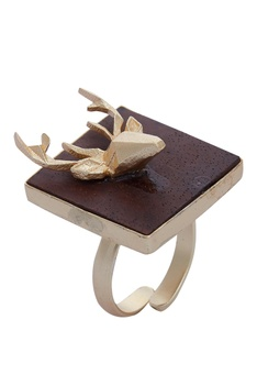 Adjustable Quirky Deer Ring
