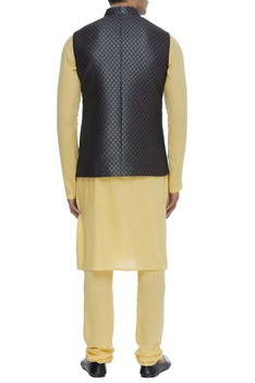 Silk brocade nehru jacket