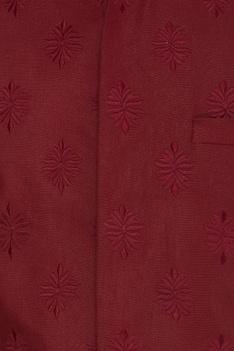 Linen embroidered nehru jacket