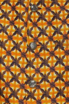 Printed linen nehru jacket