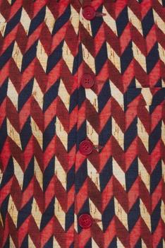 Aztec print nehru jacket