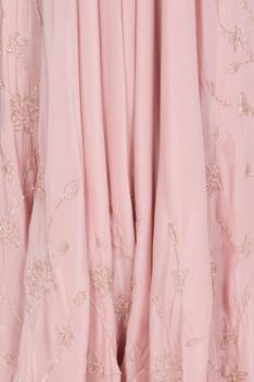 Layered asymmetric dhoti jumpsuit