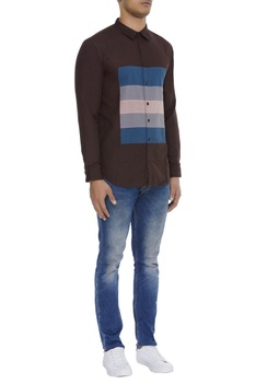 Front panel cotton shirt