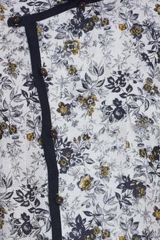 Floral print overlap kurta