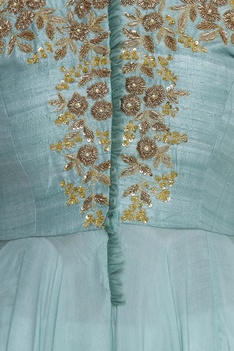 Hand embroidered asymmetric kurta