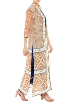 Dhoti jumpsuit with printed jacket