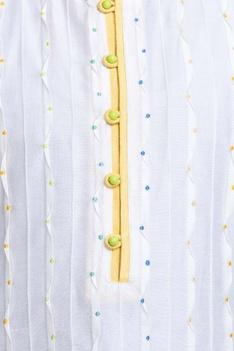 Textured pattern kurta with churidar