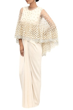 Resham & sequin embroidered cape