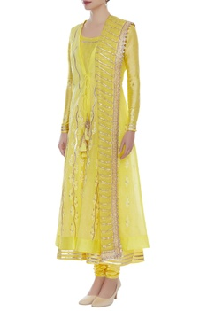 Anarkali jacket kurta set with gota pati work