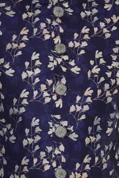 Floral Print sherwani with churidar