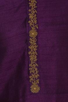 Hand embroidered kurta with churidar