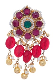 Kundan & Pearl Beaded Necklace Set